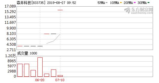 森井科技2019半年报 营收下降27.77%