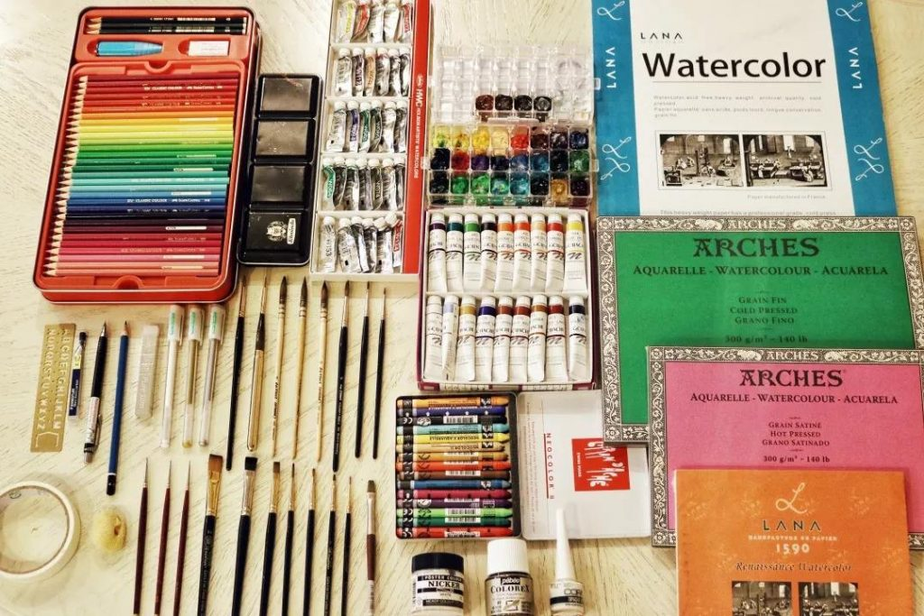 水彩画的用具选择